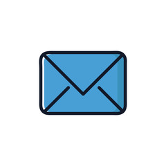 Mail Isolated Icon Vector Illustration.Flat Style