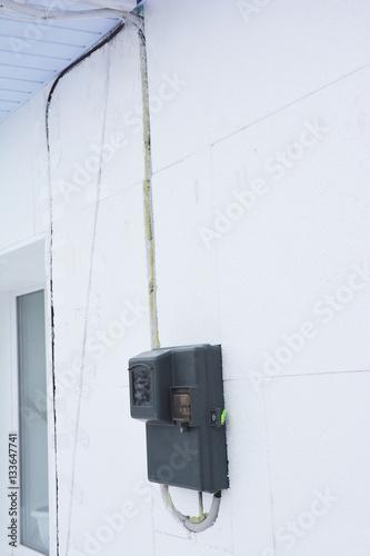 Outdoor Electricity Meter : Quot electric power meter outdoor house watt hour