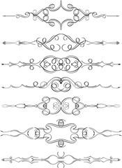 Luxury swirl divide line set
