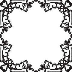 Ornate baroque black border