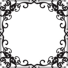 Ornate baroque black graceful border