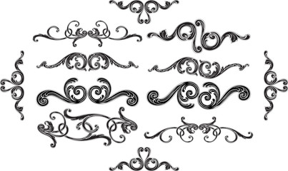 Ornate baroque splendid design set