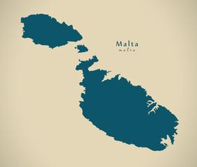 Modern Map - Malta MT illustration