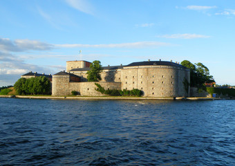 Vaxholm Fortress, the historic fortification in Stockholm Archipelago, Sweden