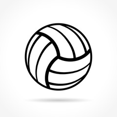 volleyball icon on white background