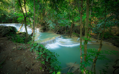 Huay Mae Kamin Waterfall in the forest