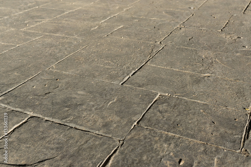 Gray Stamped Concrete Slate Seamless Texture Pattern Pavement