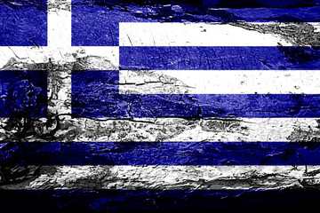 Greece flag with grunge texture