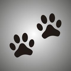 paw - vector icon. paw - black vector icon. message bubble
