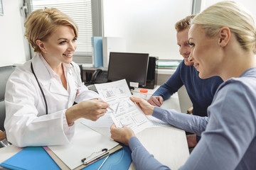 Female medical advisor at working place
