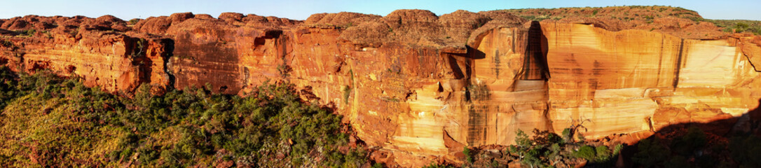 Panorama Kings Canyon cliffs, Northern Territory, Australia