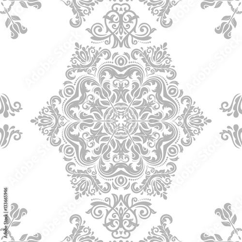"""Seamless Damask Pattern. Traditional Classic Orient"