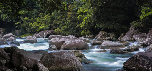 Panorama Mossman Gorge, Daintree National Park, Australia
