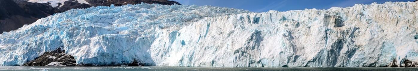 Panorama Aialik Glacier, Kenai Fjord, Alaska