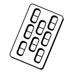 medicine drugs isolated icon vector illustration design