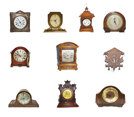 A Collection Of Vintage Clocks