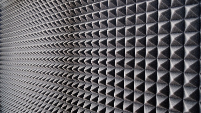 sound absorbing materials. microfiber insulation of noise in music Studio, sound insulation