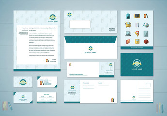 School Branding Stationery Layout Kit