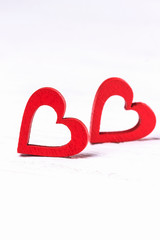 Happy Valentine's Day. Two red hearts