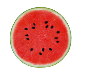 A half of watermelon on white background