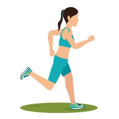 woman running avatar icon vector illustration design