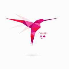 Colibri logo origami bird