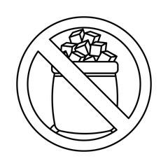 sugar free seal icon vector illustration design