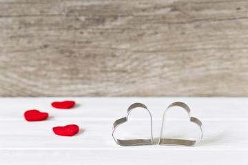 Valentinstag Karte mit Herzen