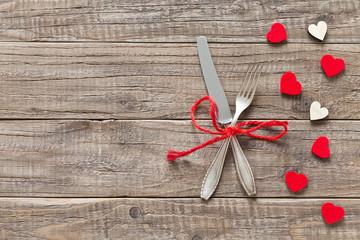 Tischdekoration zum Valentinstag
