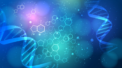 DNA vector medical background