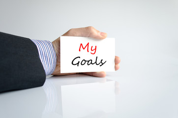 My goals text concept