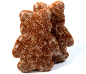 traditional gingerbread isolated on white background