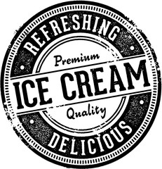 Premium Ice Cream Dessert Stamp