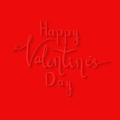 happy Valentine's day lettering. Writing by hand
