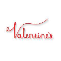 postcard for Valentine's day. isolated lettering