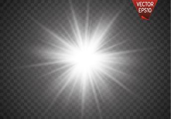 Vector illustration of abstract flare light rays Fototapete