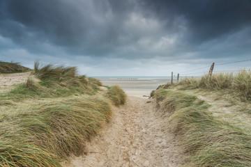 Utah Beach dunes in Normandy Wold War Two historic site Fototapete