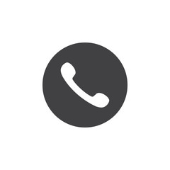 Telephone receiver vector icon