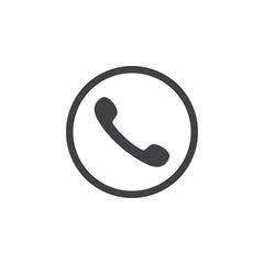 Telephone receiver vector icon