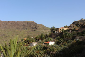 Beautiful view of Masca, valley of pirates, Tenerife, Spain, September 2016