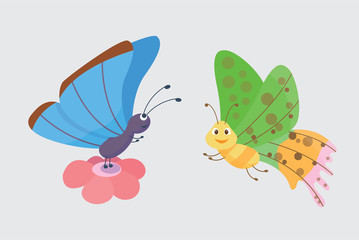 Colorful butterflies vector.