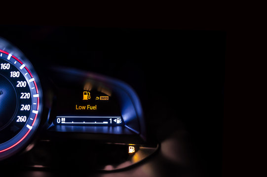 Car speedometer information display - Low Fuel Warning
