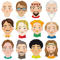 Men Vector Avatars Set