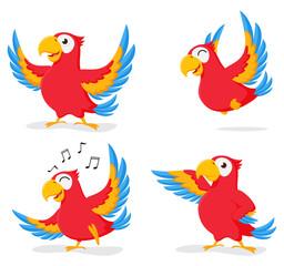 Cute Parrot cartoon collection set