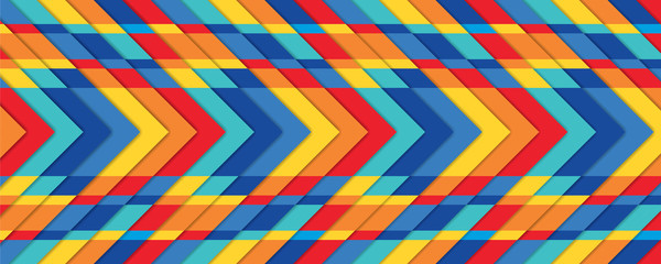 Rainbow texture, bright geometric background, modern vector wallpaper