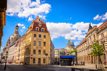 Architecture of old Dresden, Saxony, Germany