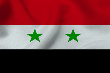 Syria flag ,3D Syria national flag 3D illustration symbol