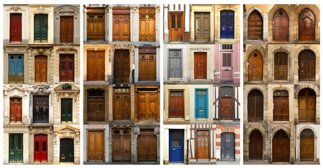 Collage of French doors