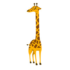 cute giraffe color illustration design