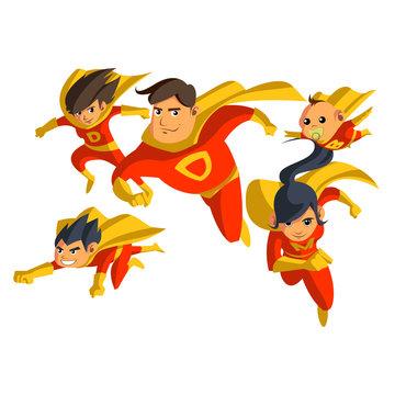 super hero families set